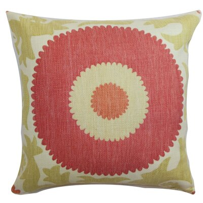 Yspaddaden Floral Cotton Throw Pillow Size: 24 x 24