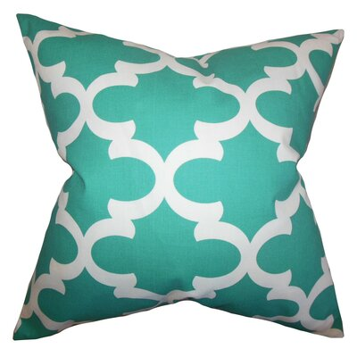 Titian Geometric Throw Pillow Cover Color: Jade