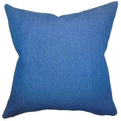 Zhoie Solid Cotton Throw Pillow Size: 18 x 18