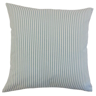 Melinda Classic Stripes Throw Pillow Cover Color: Aqua