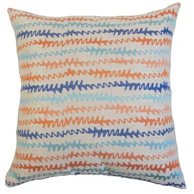 Malu Zigzag Throw Pillow Cover Color: Harvest