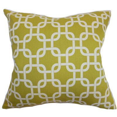 Qishn Geom Throw Pillow Cover Color: Yellow Natural