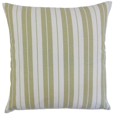 Henley Stripes Throw Pillow Cover Color: Sage