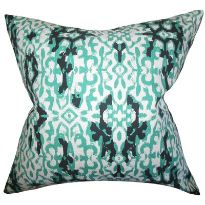 Madrigal Ikat Cotton Throw Pillow Size: 18 x 18