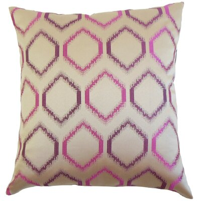 Burbach Geometric Throw Pillow Cover Color: Orchid