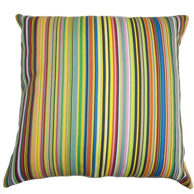 Kaili Stripes Outdoor Cotton Throw Pillow Cover