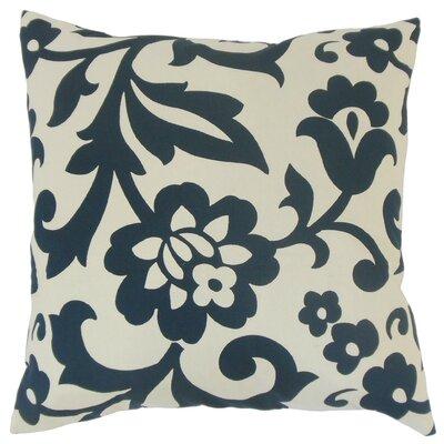 Fisseha Floral Cotton Throw Pillow Cover Color: Indigo