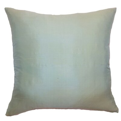 Constance Plain Silk Throw Pillow Size: 22 x 22