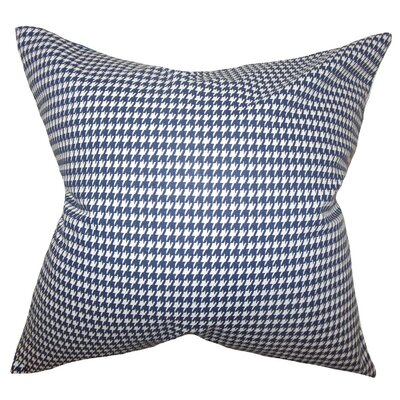 Lviv Houndstooth Bedding Sham Size: King, Color: Blue