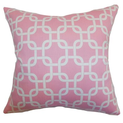 Qishn Geom Throw Pillow Cover Color: Baby Pink