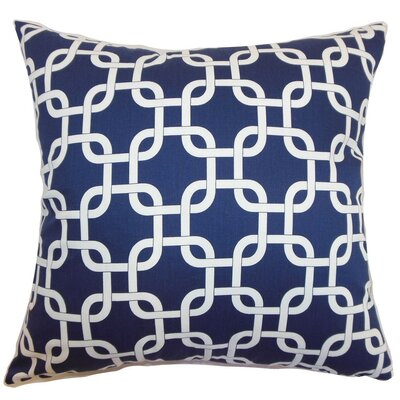 Qishn Geom Throw Pillow Cover Color: Blue