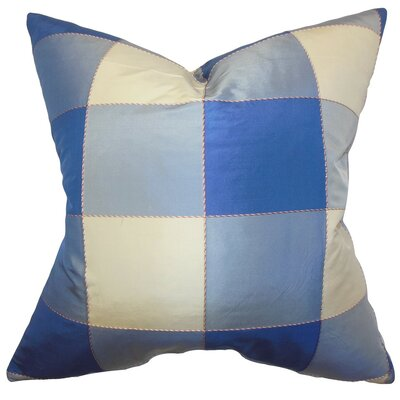 Keats Plaid Silk Throw Pillow Size: 20
