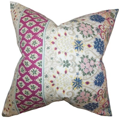 Kairi Floral Cotton Throw Pillow Cover Color: Multi