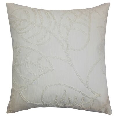Fabrizia Floral Throw Pillow Cover Color: Pearl