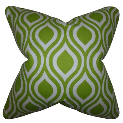 Burdge Geometric Cotton Throw Pillow Cover Color: Chartreuse