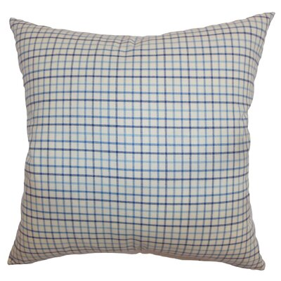 Jocko Check Cotton Throw Pillow Size: 18 x 18