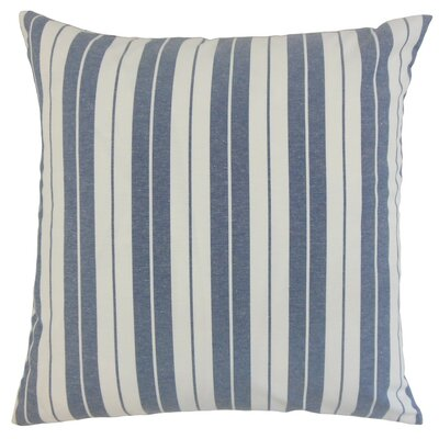 Henley Stripes Throw Pillow Cover Color: Navy