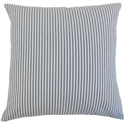 Melinda Stripes Throw Pillow Cover Color: Navy