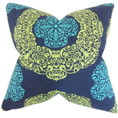 Ilona Geometric Cotton Throw Pillow Cover Color: Turquoise