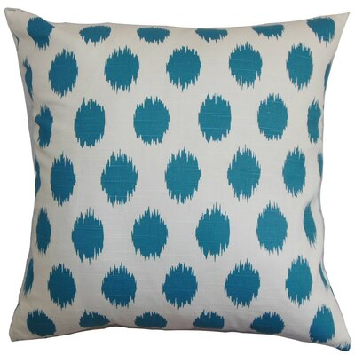 Kaintiba Ikat Throw Pillow Cover Color: Blue