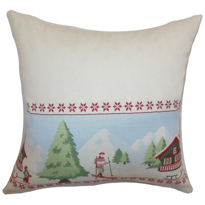 Florina Holiday Cotton Throw Pillow Cover