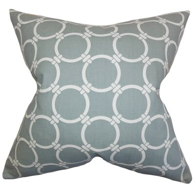 Betchet Geometric Cotton Throw Pillow Cover Color: Gray