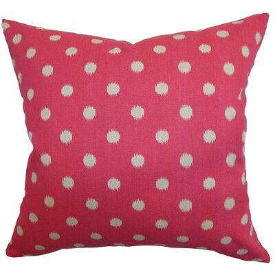 Rennice Ikat Dots Throw Pillow Cover Color: Fuchsia