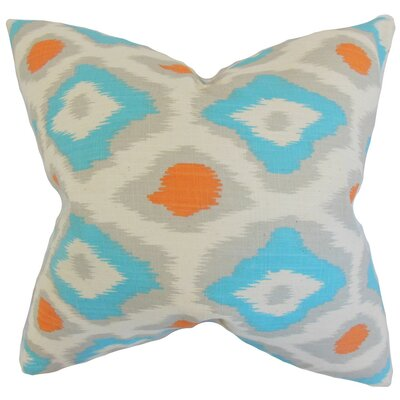 Becan Ikat Throw Pillow Cover Color: Dossett