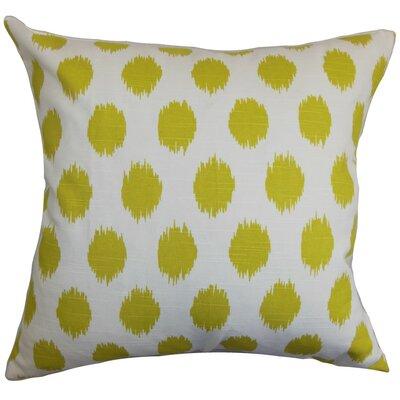 Kaintiba Ikat Throw Pillow Cover Color: Green White