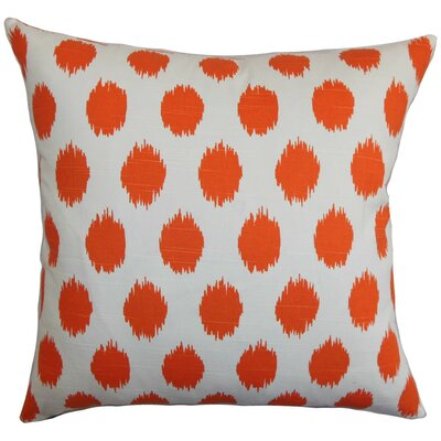 Kaintiba Ikat Throw Pillow Cover Color: Orange