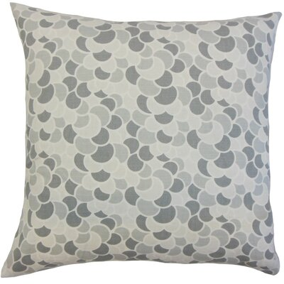 Lily Geometric Throw Pillow Cover Color: Pewter