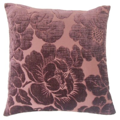 Cenobia Floral Throw Pillow Cover Color: Violet