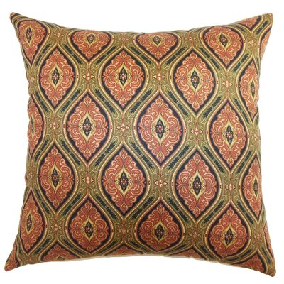 Heihe Paisley Cotton Throw Pillow Cover Size: 20 x 20, Color: Poppy Red