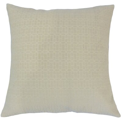 Yancy Geometric Throw Pillow Cover Color: Natural