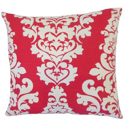 Wilona Damask Cotton Throw Pillow Cover Color: Pink
