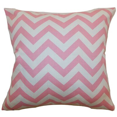 Burd Zigzag Throw Pillow Cover Color: Baby Pink