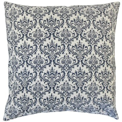 Laibah Damask Cotton Throw Pillow Cover