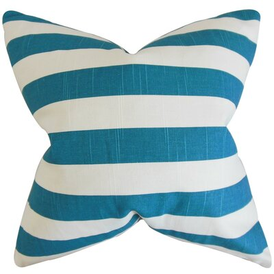 Ilaam Stripes Throw Pillow Cover Color: Aquarius Blue
