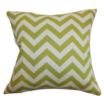 Burd Zigzag Throw Pillow Cover Color: Village Green Natural