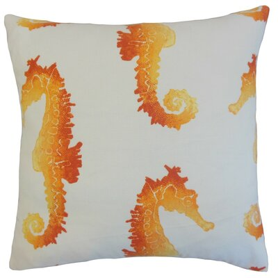 Xenos Outdoor Throw Pillow Cover Color: Tangerine
