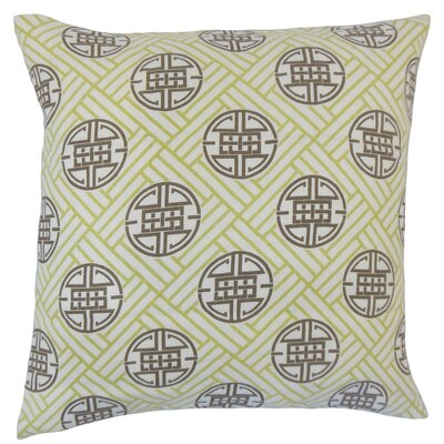 Delit Geometric Linen Throw Pillow Cover Color: Lime