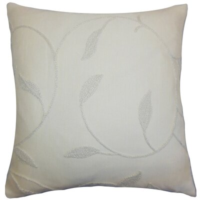 Delyth Floral Cotton Throw Pillow Cover Color: Vanilla