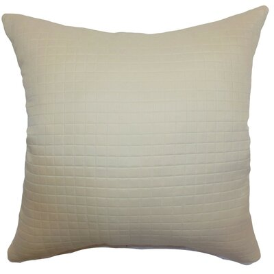 Obadiah Quilted Cotton Throw Pillow Cover