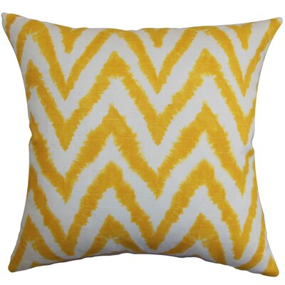 Kingspear Zigzag Throw Pillow Cover Color: Corn Yellow
