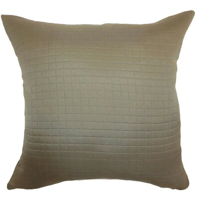 Maertisa Quilted Linen Throw Pillow Cover