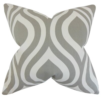 Larch Geometric Throw Pillow Cover Color: Gray
