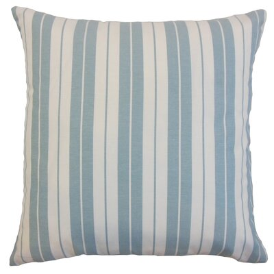 Henley Stripes Throw Pillow Cover Color: Sea