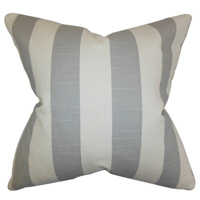 Acantha Stripes Bedding Sham Size: King, Color: Gray