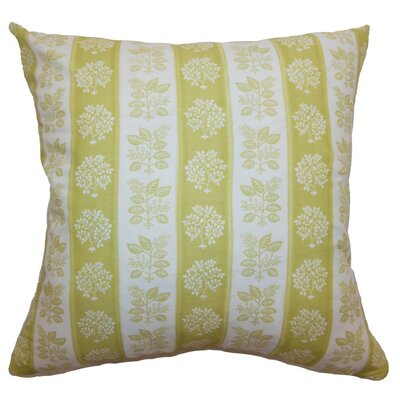 Rosalinde Floral Cotton Throw Pillow Size: 18 x 18