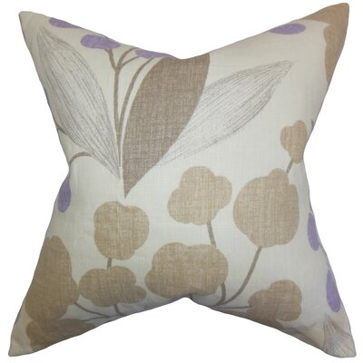 Geneen Floral Linen Throw Pillow Cover Color: Wisteria